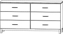 Siena Six Drawer Dresser 405-0260