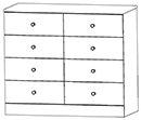 8 Drawer Dresser 404-0280