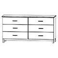CFC Healthcare 405-0260 Six Drawer Dresser